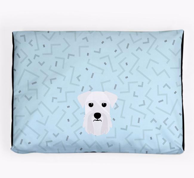 Personalised Minimal Dog Bed with Giant Schnauzer Icon