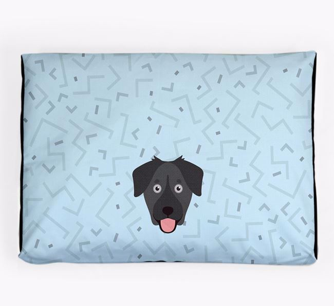 Personalised Minimal Dog Bed with Goberian Icon