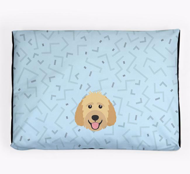 Personalised Minimal Dog Bed with Goldendoodle Icon