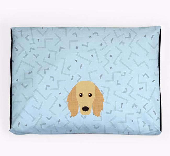 Personalised Minimal Dog Bed with Golden Dox Icon