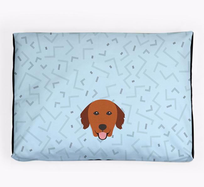 Personalised Minimal Dog Bed with Golden Retriever Icon