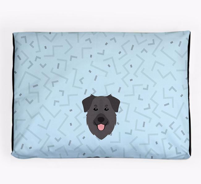 Personalised Minimal Dog Bed with Golden Shepherd Icon