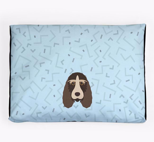 Personalised Minimal Dog Bed with Grand Basset Griffon Vendeen Icon