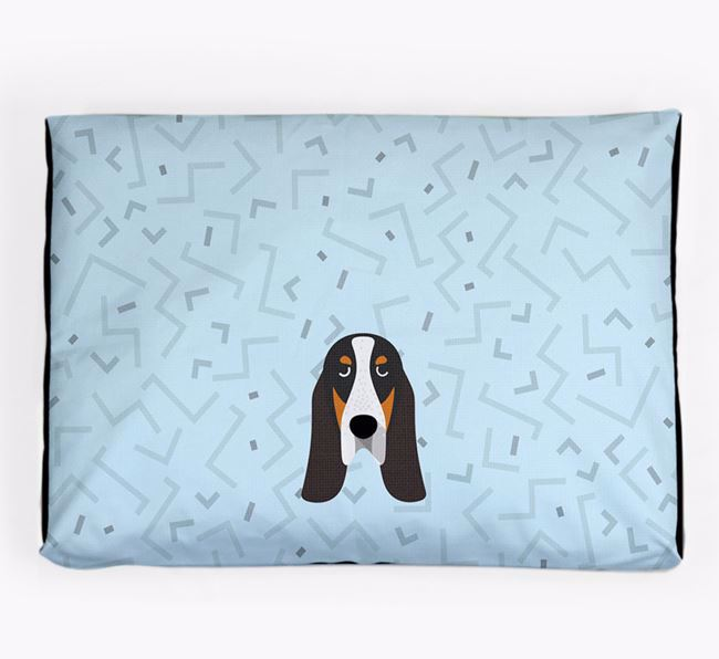 Personalised Minimal Dog Bed with Grand Bleu De Gascogne Icon