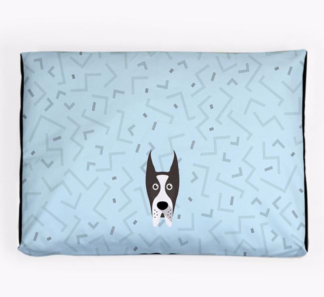 Personalised Minimal Dog Bed with Great Dane Icon