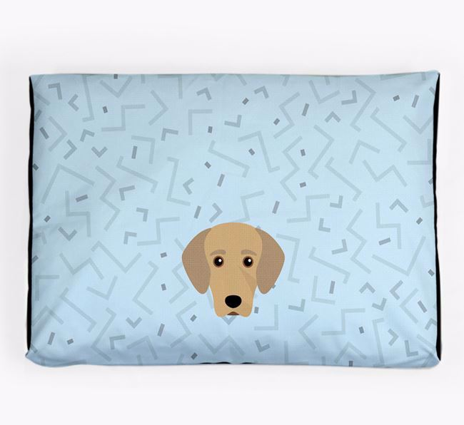Personalised Minimal Dog Bed with Greek Harehound Icon