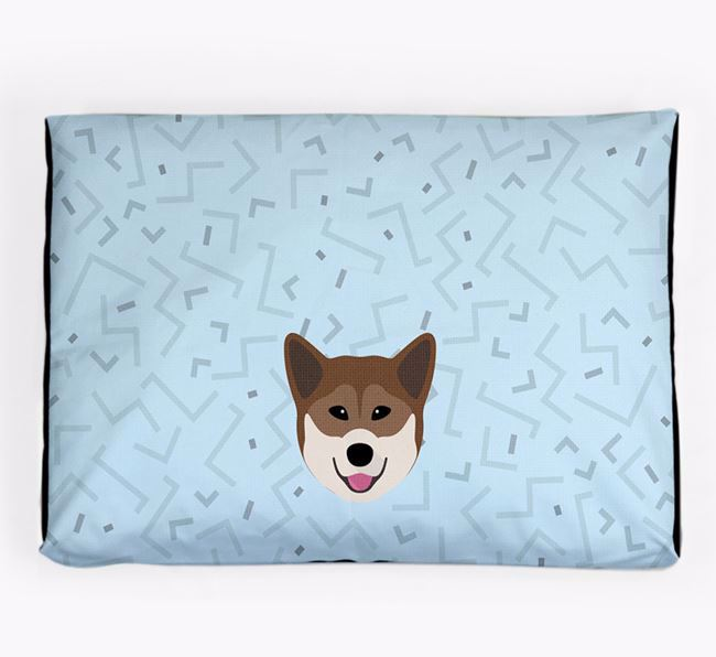 Personalised Minimal Dog Bed with Greenland Dog Icon