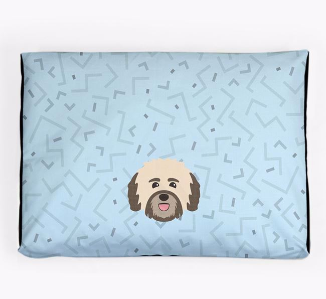 Personalised Minimal Dog Bed with Havanese Icon