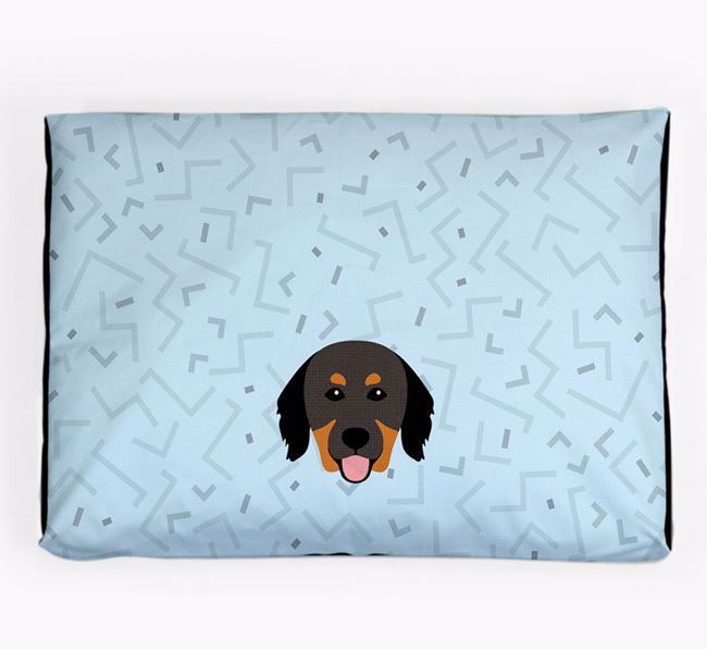 Personalised Minimal Dog Bed with Hovawart Icon