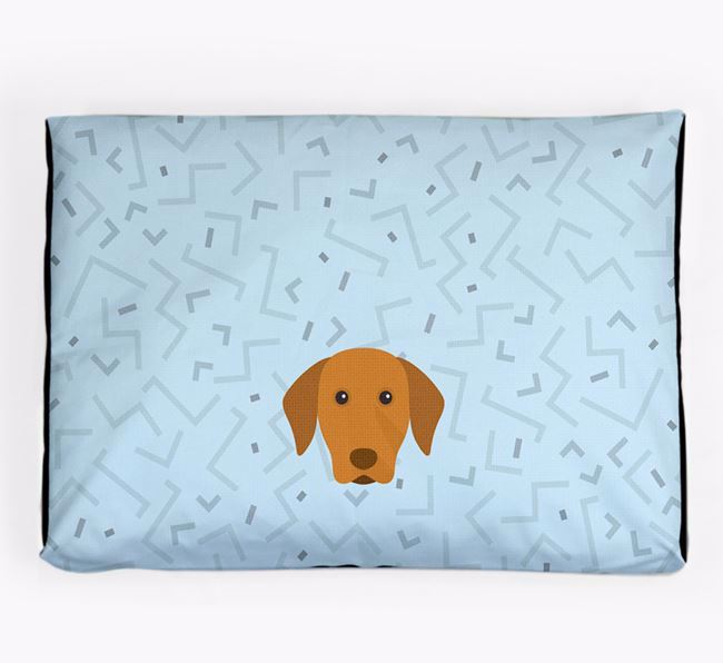 Personalised Minimal Dog Bed with Hungarian Vizsla Icon