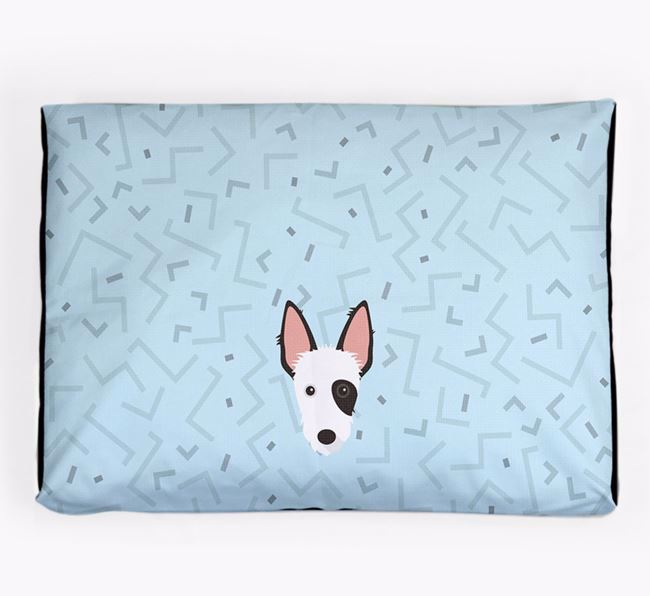 Personalised Minimal Dog Bed with Ibizan Hound Icon