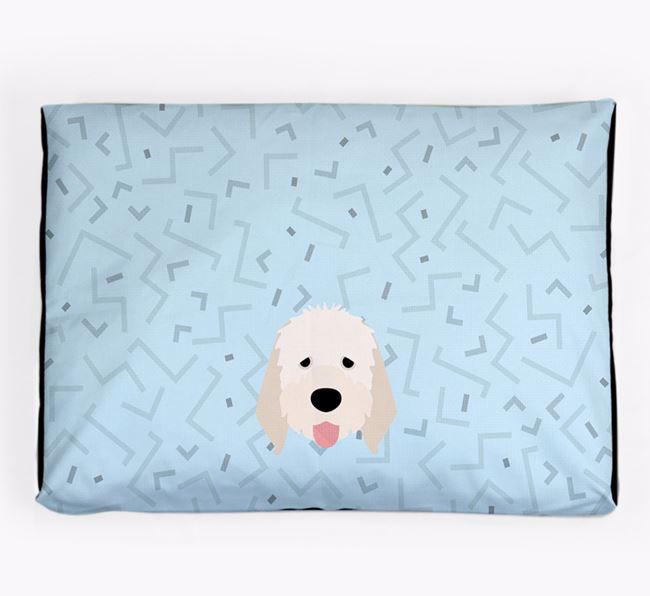 Personalised Minimal Dog Bed with Italian Spinone Icon