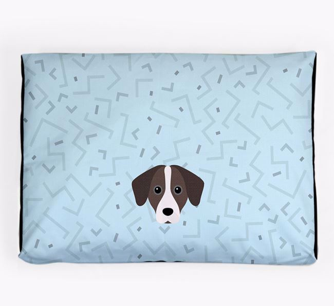 Personalised Minimal Dog Bed with Jack-A-Bee Icon