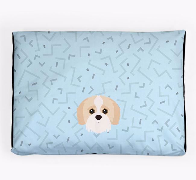 Personalised Minimal Dog Bed with Jack-A-Poo Icon