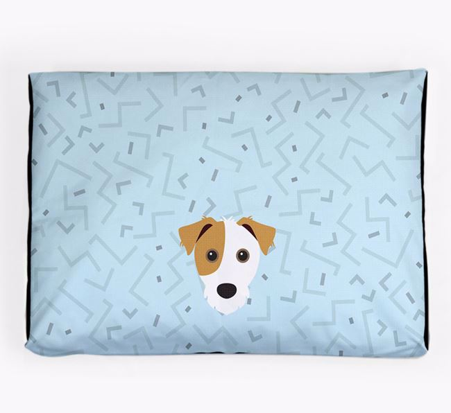 Personalised Minimal Dog Bed with Jack Russell Terrier Icon