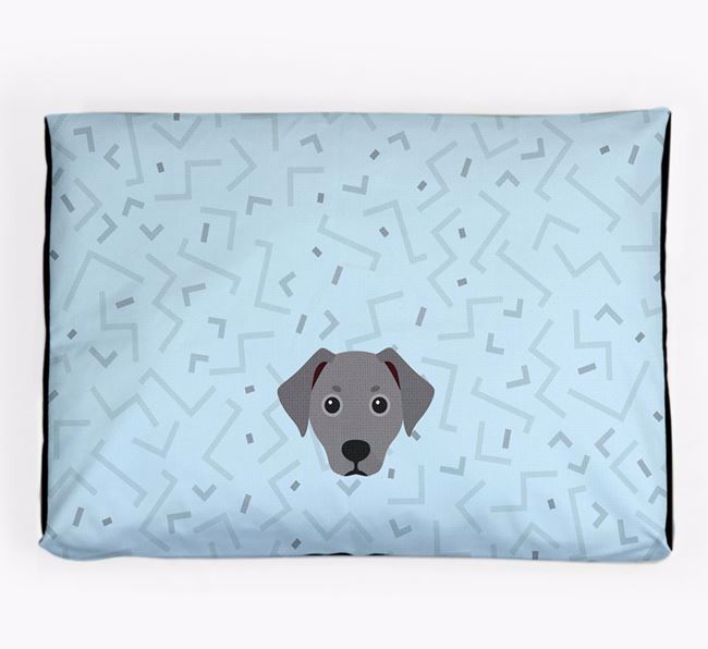 Personalised Minimal Dog Bed with Jackshund Icon