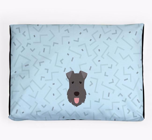 Personalised Minimal Dog Bed with Kerry Blue Terrier Icon