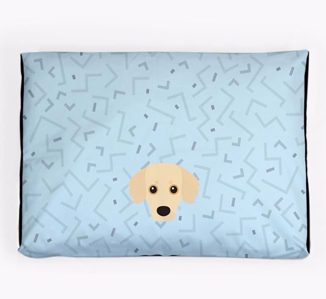 Personalised Minimal Dog Bed with Kokoni Icon