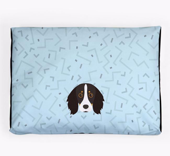 Personalised Minimal Dog Bed with Kooikerhondje Icon