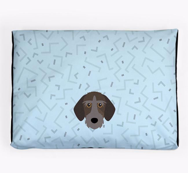 Personalised Minimal Dog Bed with Korthals Griffon Icon