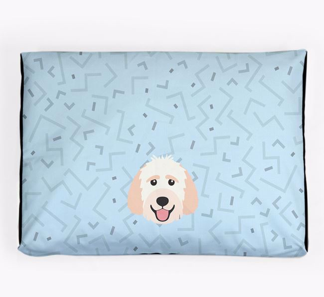 Personalised Minimal Dog Bed with Labradoodle Icon
