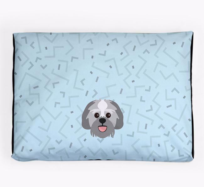 Personalised Minimal Dog Bed with Lachon Icon
