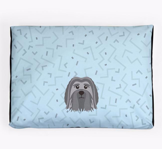 Personalised Minimal Dog Bed with Löwchen Icon