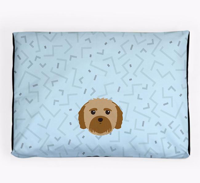 Personalised Minimal Dog Bed with Mal-Shi Icon