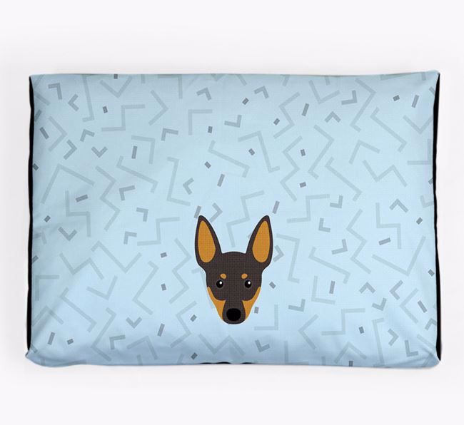 Personalised Minimal Dog Bed with Manchester Terrier Icon