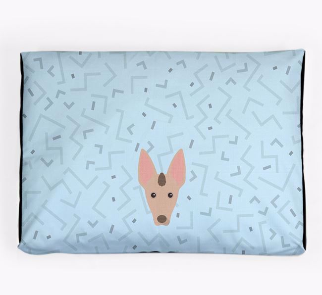 Personalised Minimal Dog Bed with Mexican Hairless Icon