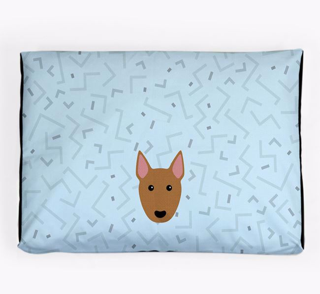 Personalised Minimal Dog Bed with Miniature Bull Terrier Icon