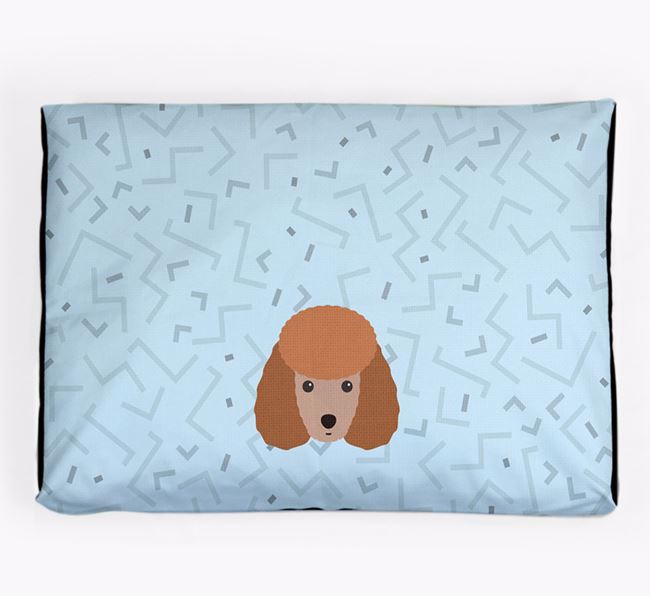 Personalised Minimal Dog Bed with Miniature Poodle Icon