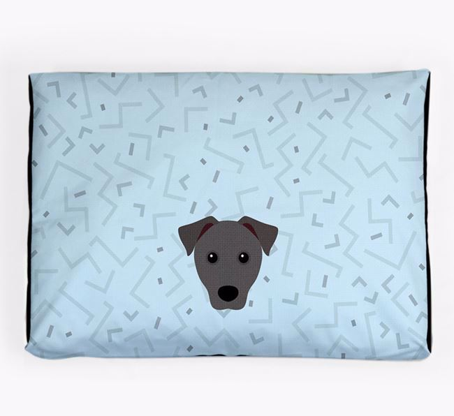 Personalised Minimal Dog Bed with Mixed Breed Icon