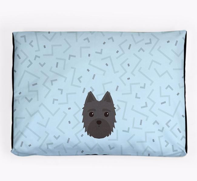 Personalised Minimal Dog Bed with Morkie Icon