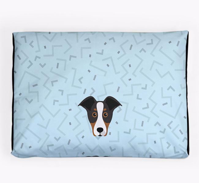 Personalised Minimal Dog Bed with New Zealand Huntaway Icon