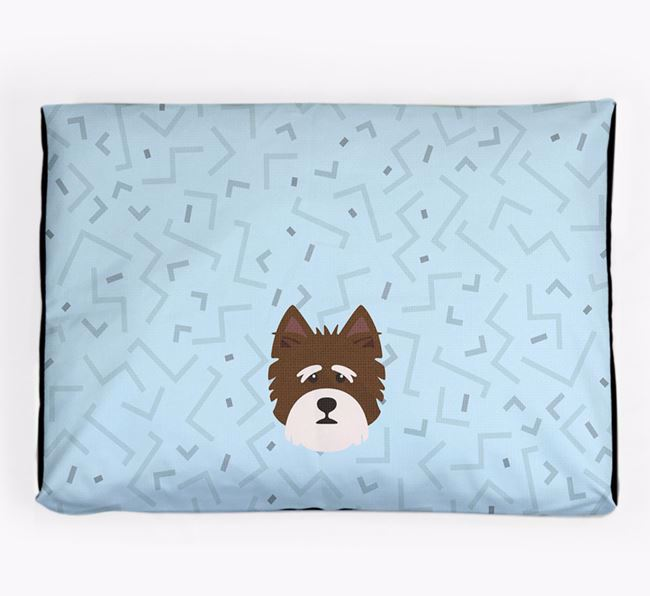 Personalised Minimal Dog Bed with Norfolk Terrier Icon
