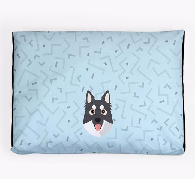 Personalised Minimal Dog Bed with Northern Inuit Icon