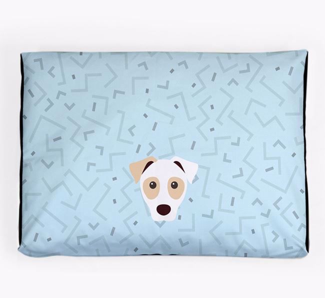 Personalised Minimal Dog Bed with Parson Russell Terrier Icon