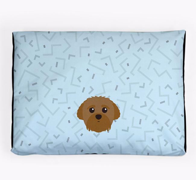 Personalised Minimal Dog Bed with Peek-a-poo Icon