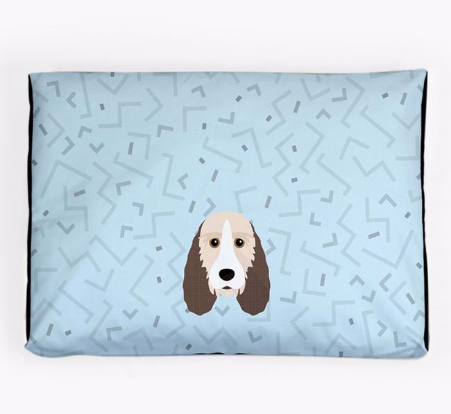 Personalised Minimal Dog Bed with Petit Basset Griffon Vendeen Icon