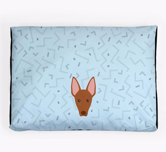 Personalised Minimal Dog Bed with Pharaoh Hound Icon