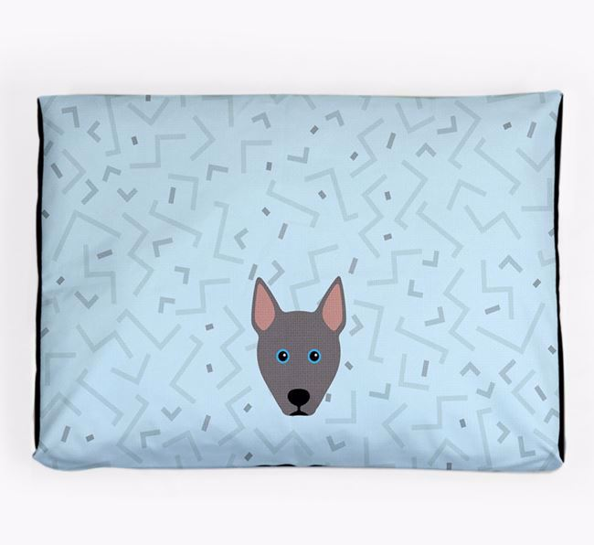 Personalised Minimal Dog Bed with Pitsky Icon