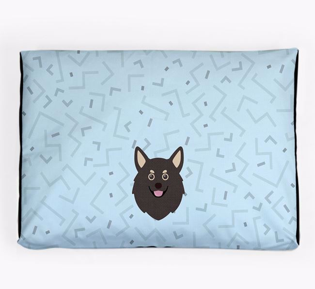 Personalised Minimal Dog Bed with Pomchi Icon