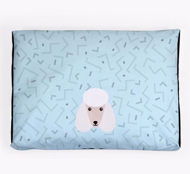 Personalised Minimal Dog Bed with Poodle Icon