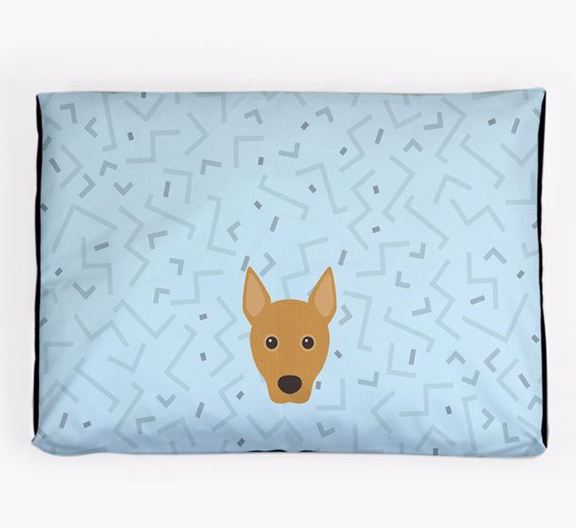 Personalised Minimal Dog Bed with Portuguese Podengo Icon