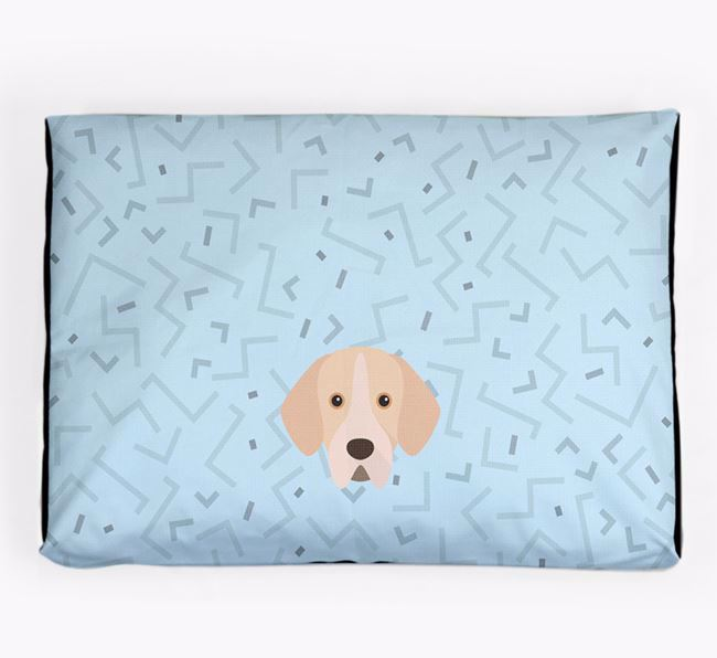 Personalised Minimal Dog Bed with Portuguese Pointer Icon