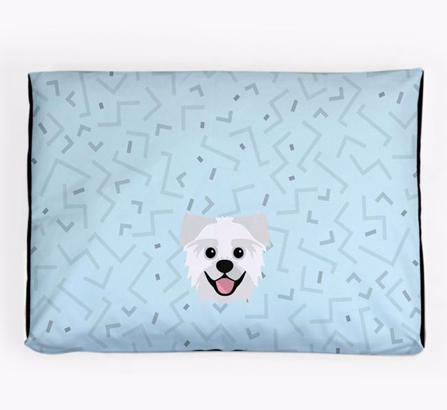Personalised Minimal Dog Bed with Pugzu Icon