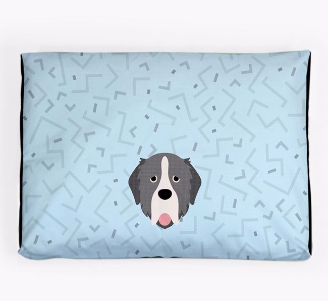 Personalised Minimal Dog Bed with Pyrenean Mastiff Icon