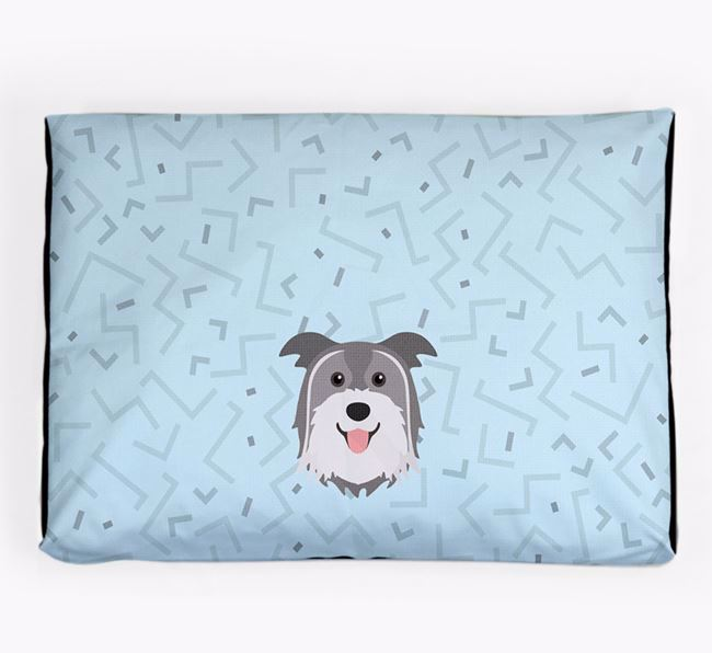 Personalised Minimal Dog Bed with Pyrenean Shepherd Icon