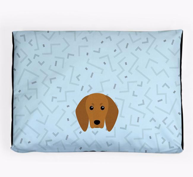 Personalised Minimal Dog Bed with Redbone Coonhound Icon